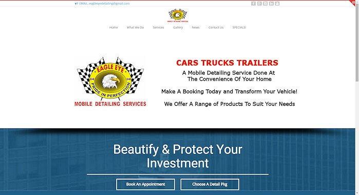 Eagle Eye Mobile Detailing Website